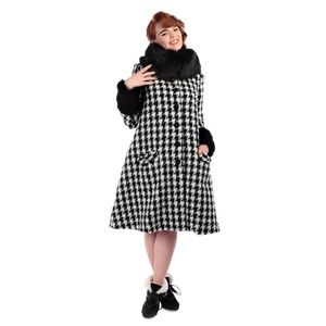 nwt collectif rockabilly houndstooth coat small 6
